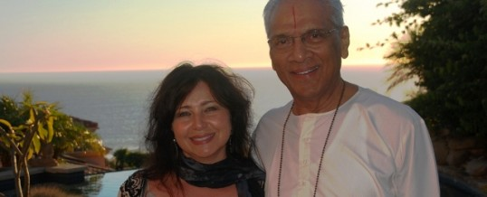 Dianne Burnett and Swami Parthasarathy in Malibu