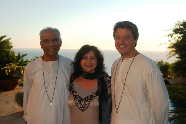 Swami Parthasarathy, Dianne Burnett and Joseph Emmett